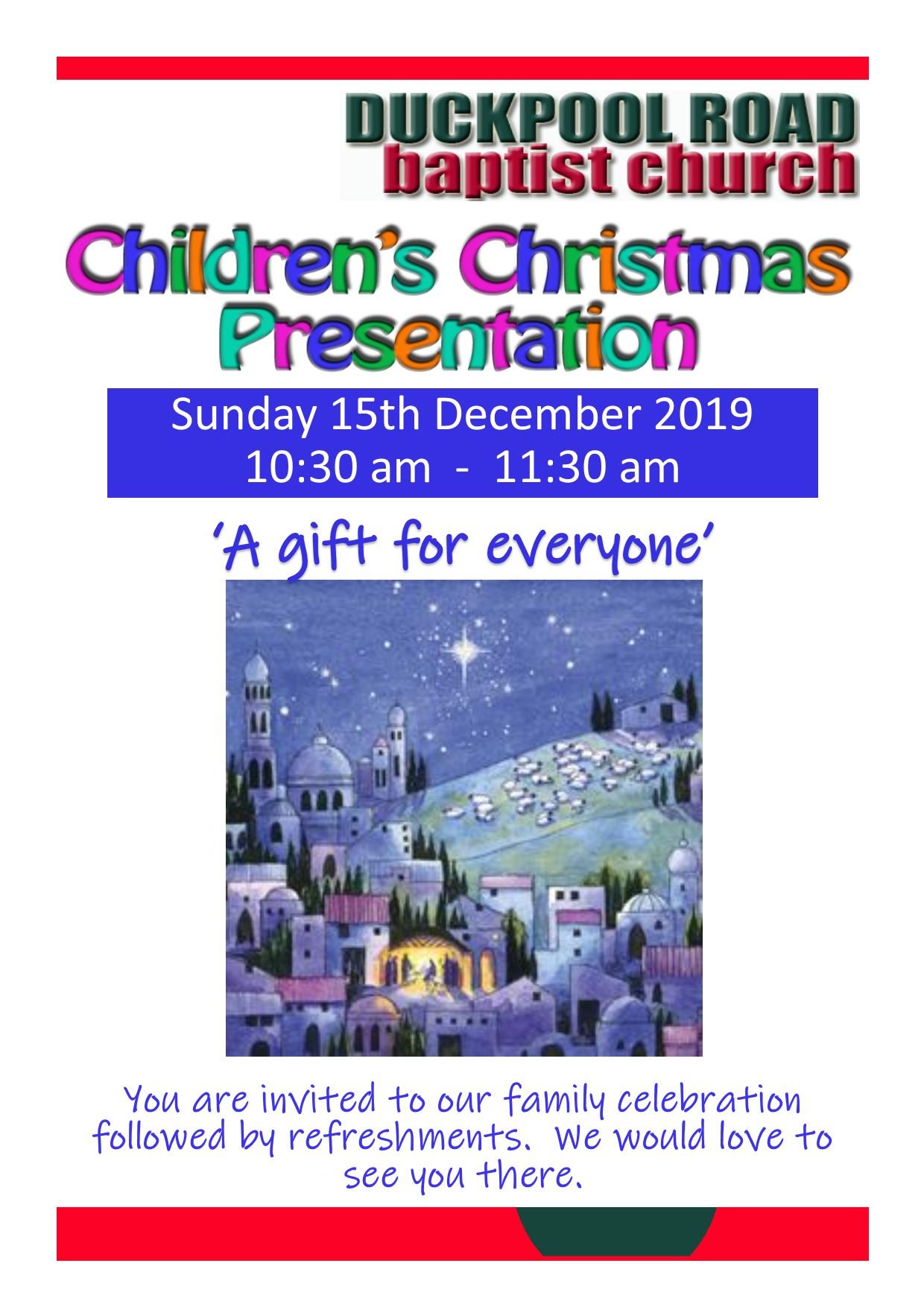 Children's Christmas Presentation
