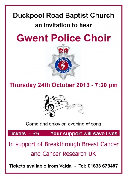 Gwent Police Choir Poster