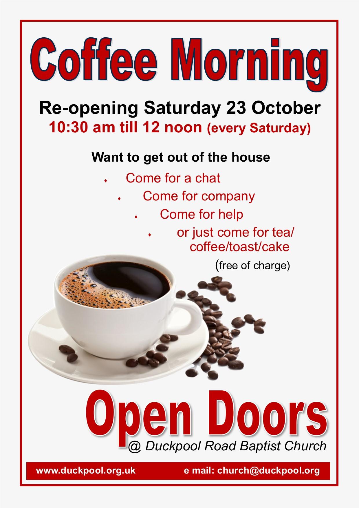 Open Doors Coffee Morning